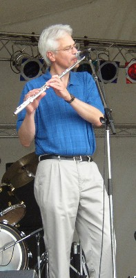 Jim Newsom on flute, October 2004