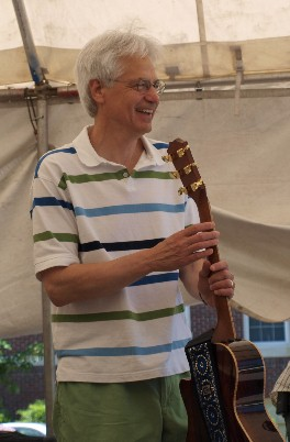 Jim Newsom at the Stockley Gardens Spring Arts Festival, May 2010
